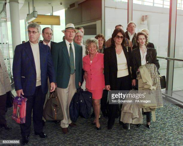 Former Test cricketer Geoffrey Boycott and his team return to Heathrow Airport from France after attempting to quash his conviction for violently...