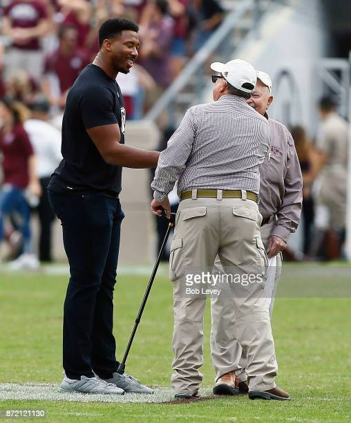 Former Texas AM Aggies and current Cleveland Brown Myles Garrett at Kyle Field on November 4 2017 in College Station Texas