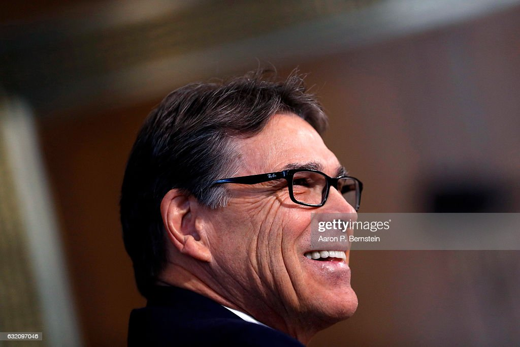 Senate Committee Holds Confirmation Hearing For Rick Perry To Become Energy Secretary