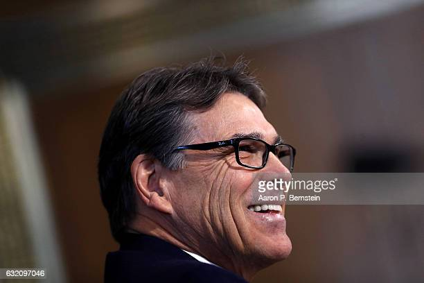Former Texas Governor Rick Perry Presidentelect Donald Trump's choice as Secretary of Energy testifies during his confirmation hearing before the...