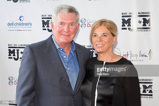 Former Texas Longhorns football coach Mack Brown and wife Sally Brown arrive at the third Mack Jack McConaughey charity gala at ACL Live on April 16...