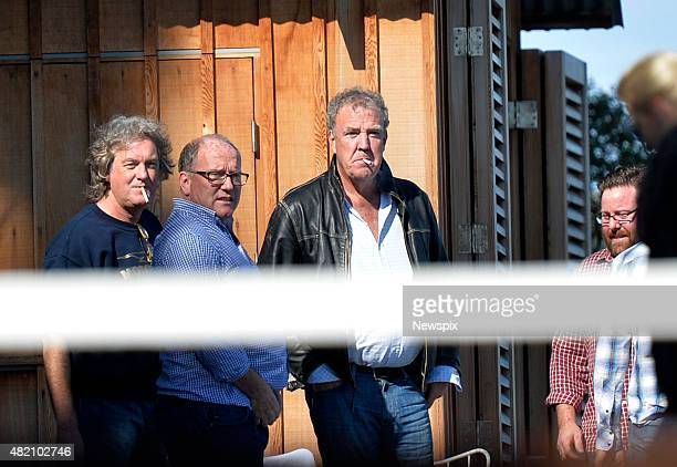 Former 'Top Gear' host Jeremy Clarkson and James May are seen in Sydney New South Wales