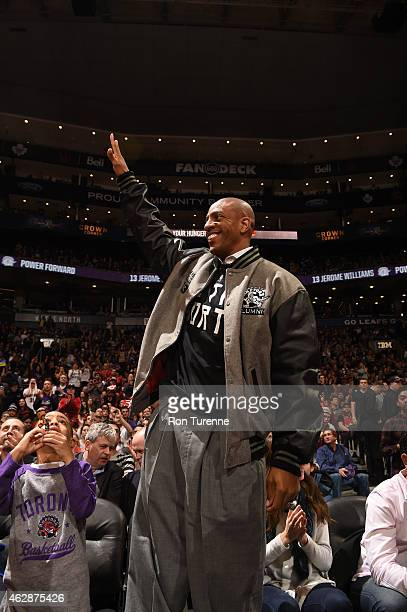 Former Toronto Raptors player Jerome Williams attends the game between the Toronto Raptors and the Los Angeles Clippers on February 6 2015 at the Air...