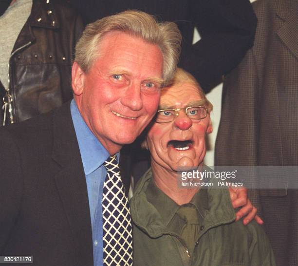 Former Tory Minister Michael Heseltine was reunited with his puppet at a celebrity farewell party for the old tv series at Sothebys in London after...