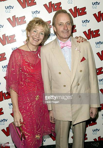 Former Tory MP Neil Hamilton and his wife talk show host Christine Hamilton attend the 25th anniversary and book launch party for cult adult comic...