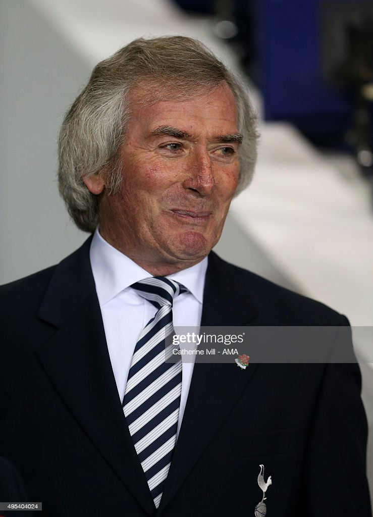 Former Tottenham Hotspur goalkeeper <a gi-track='captionPersonalityLinkClicked' href=/galleries/search?phrase=Pat+Jennings&family=editorial&specificpeople=225090 ng-click='$event.stopPropagation()'>Pat Jennings</a> before the Barclays Premier League match between Tottenham Hotspur and Aston Villa at White Hart Lane on November 2, 2015 in London, England.