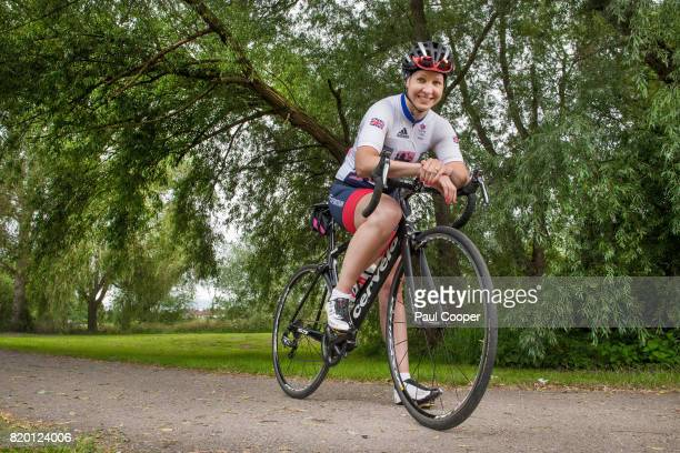 Former track and road Olympic cyclist Joanna Roswell Shand is photographed for the Telegraph on June 23 2017 in Rochdale England