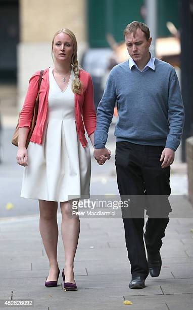 Former trader Tom Hayes and his wife Sarah arrive at Southwark Crown Court on August 3 2015 in London England Mr Hayes a former UBS and Citigroup...