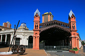 Former train station in Asuncion, Paraguay. Asuncion is the capital and the largest city of Paraguay