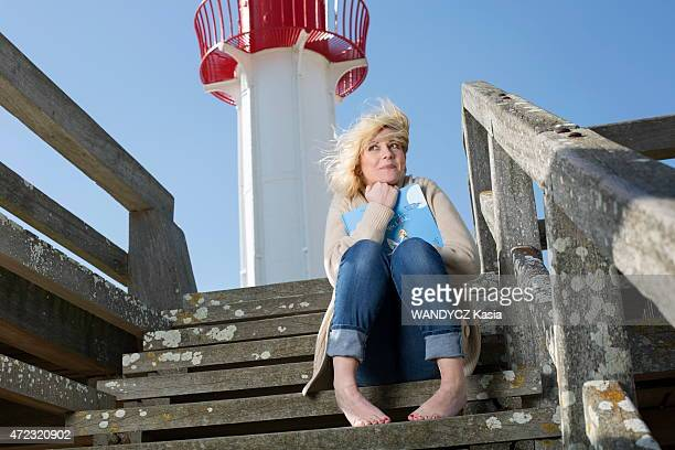 Former tv presenter and writer Flavie Flament poses on April 18 2015 in Trouville France