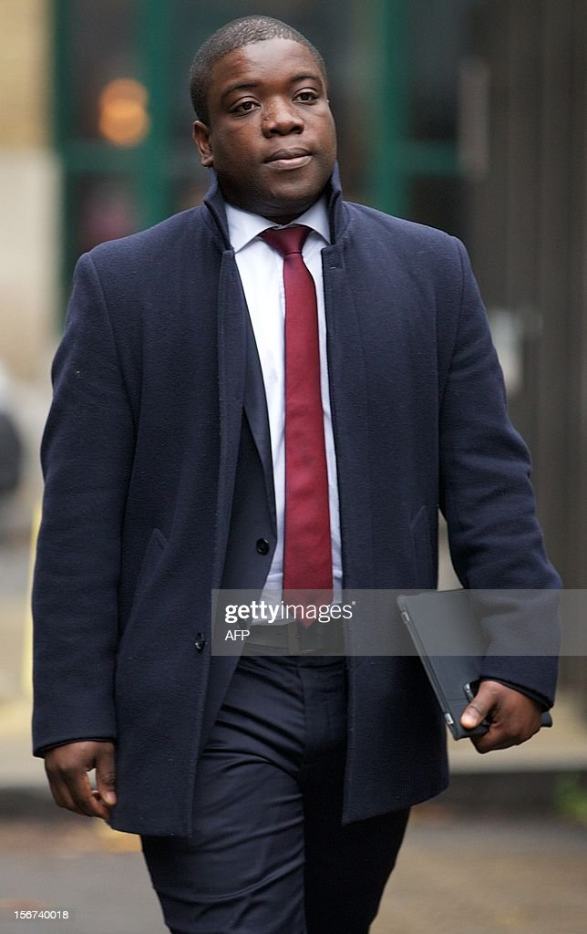Former UBS banker Kweku Adoboli, accused of losing 2.3 billion USD (1.78 billion euros) through fraudulent deals at the bank's London offices, arrives at Southwark Crown Court in London on November 20, 2012 as the jury continues to deliberate on a verdict. Adoboli, 32, who lost £1.4 billion of Swiss bank UBS's money, was found guilty of one count of fraud at Southwark Crown Court, in London. The jury was still deliberating on other charges.