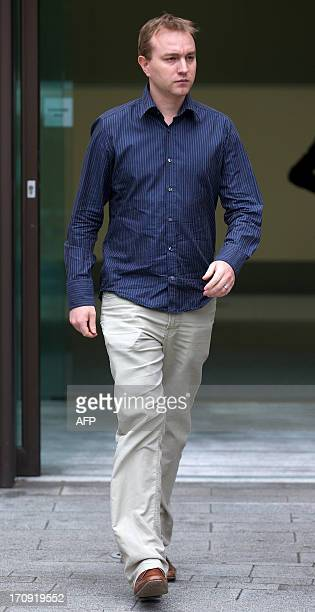Former UBS trader Tom Hayes leaves Westminster Magistrates in London on June 20 after appearing in court over charges in connection with the Libor...