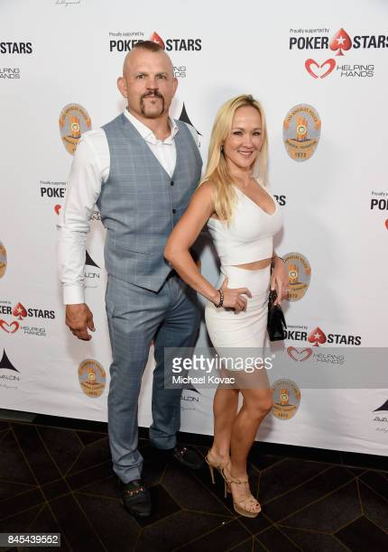 Former UFC fighter Chuck Liddell and Heidi Liddell at the Heroes for Heroes Los Angeles Police Memorial Foundation Celebrity Poker Tournament at...