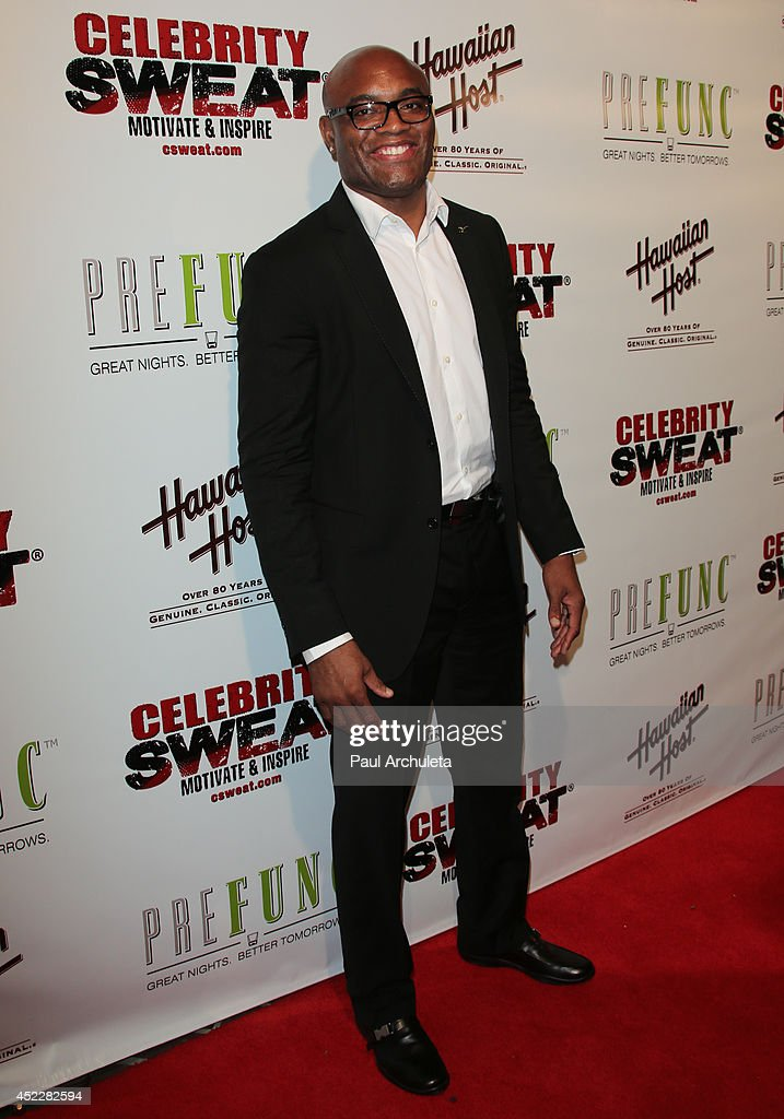 Former UFC Middleweight Champon Anderson Silva attends Evander Holyfield's ESPYS Awards after party on July 16, 2014 in Los Angeles, California.