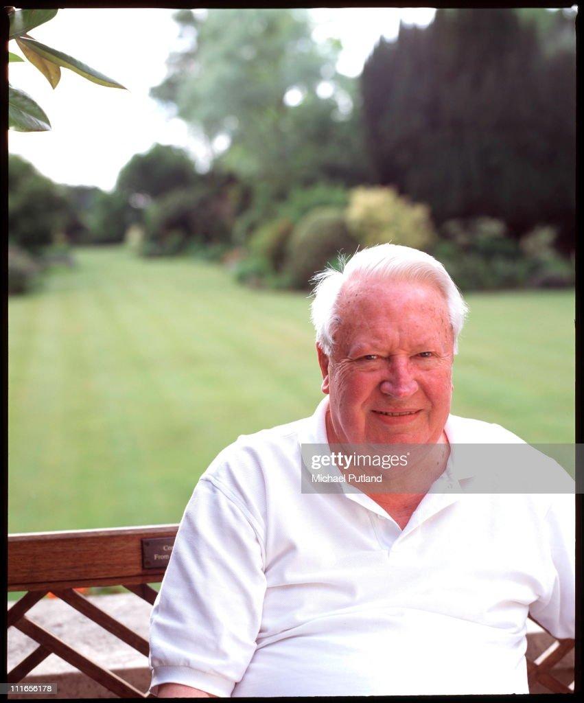Former UK Prime Minister Sir Edward Heath portrait at home 1998