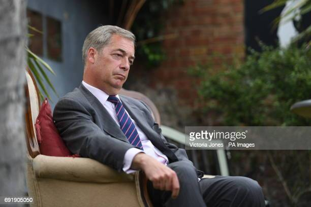 Former Ukip leader Nigel Farage while on the general election campaign trail in South Thanet
