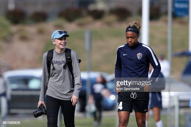 Former UNC teammates North Carolina social media assistant Brittani Bartok and the Courage's Jessica McDonald The NWSL's North Carolina Courage...