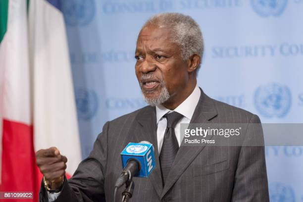 Former United Nations SecretaryGeneral Kofi Annan acting in his capacity as Chair of the Advisory Commission on Rakhine State met with the UN press...