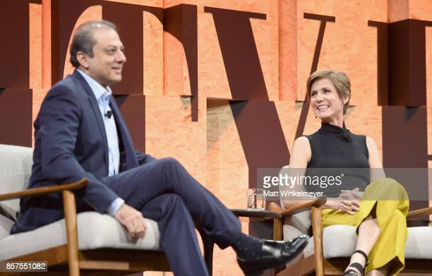 Former United States Attorney for the Southern District of New York Preet Bharara and Former United States Deputy Attorney General Sally Yates speak...