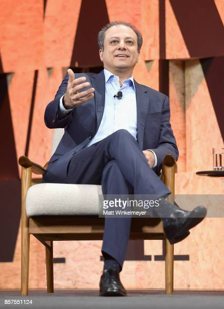 Former United States Attorney for the Southern District of New York Preet Bharara speaks onstage during Vanity Fair New Establishment Summit at...