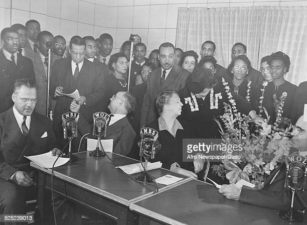 Former United States First Lady Eleanor Roosevelt Norma Boyd members of the Alpha Kappa Alpha sorority Frederick Patterson and Howard University...