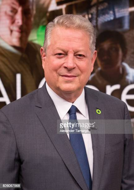 Former United States of America Vice President Al Gore is seen on the set of 'Despierta America' to promote the film 'An Inconvenient Sequel Truth to...