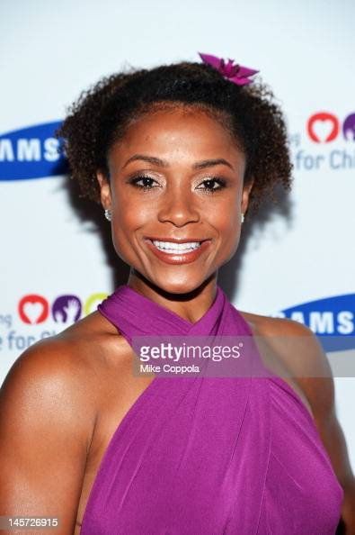 Former United States Olympic gymnast Dominique Dawes attends the Samsung's Annual Hope for Children gala at the American Museum of Natural History on...