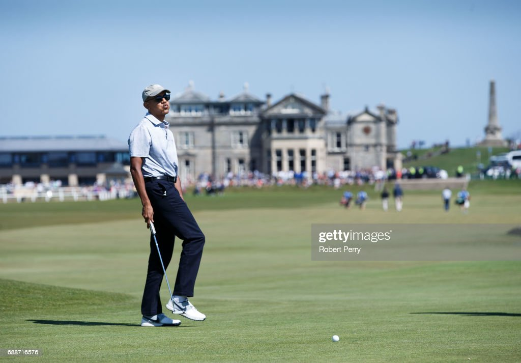 Obama Plays a Round at St Andrews