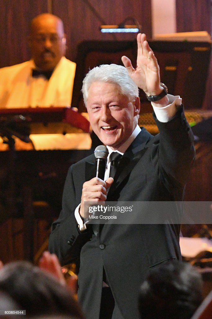 Former United States President Bill Clinton speaks onstage during 'Spike's One Night Only: Alec Baldwin' at The Apollo Theater on June 25, 2017 in New York City.
