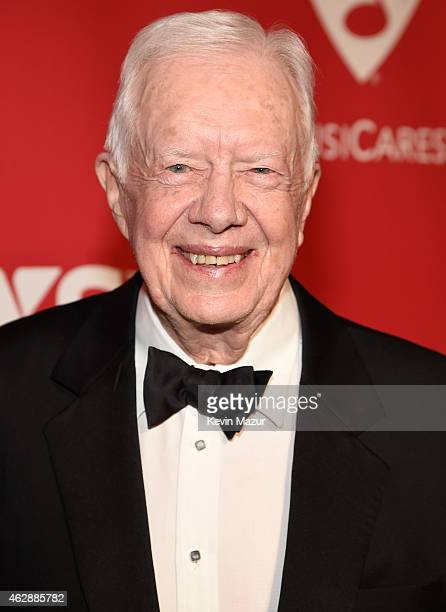 Former United States President Jimmy Carter attends the 25th anniversary MusiCares 2015 Person Of The Year Gala honoring Bob Dylan at the Los Angeles...