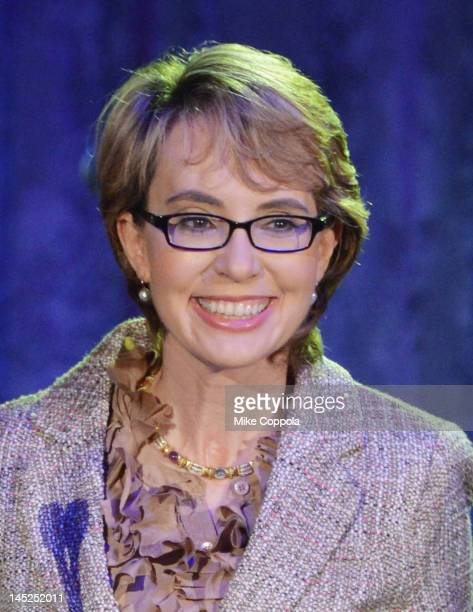 Former United States Rep Gabrielle Giffords speaks at Intrepid SeaAirSpace Museum on May 24 2012 in New York City