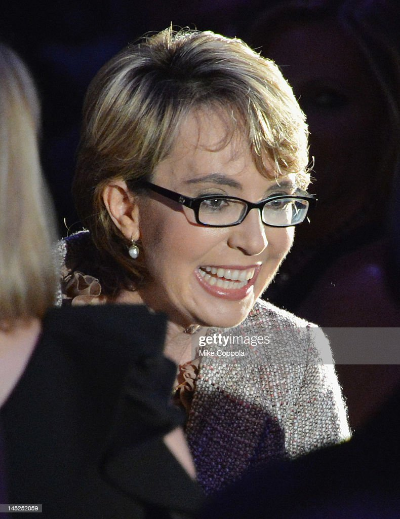 Former United States Rep. Gabrielle Giffords speaks at Intrepid Sea-Air-Space Museum on May 24, 2012 in New York City.