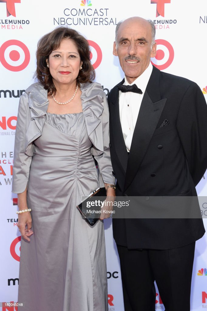 Former United States Secretary of Labor Hilda Solis and husband Sam H Sayyad attend the 2013 NCLR ALMA Awards at Pasadena Civic Auditorium on...