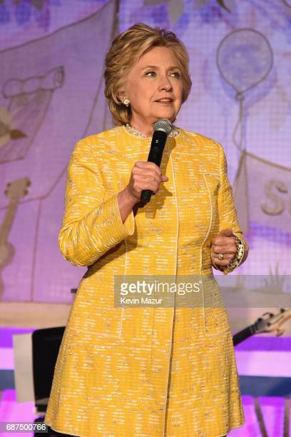 Former United States Secretary of State Hillary Clinton speaks onstage during the SeriousFun Children's Network Gala at Pier 60 on May 23 2017 in New...