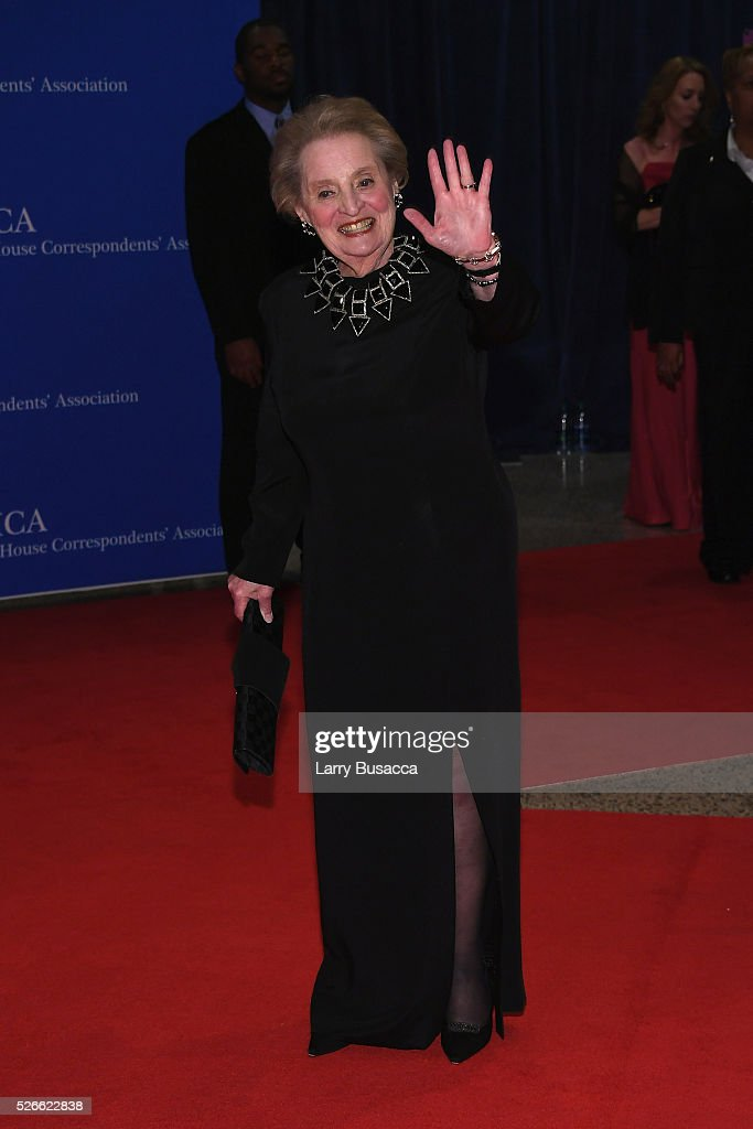 Former United States Secretary of State <a gi-track='captionPersonalityLinkClicked' href=/galleries/search?phrase=Madeleine+Albright&family=editorial&specificpeople=211429 ng-click='$event.stopPropagation()'>Madeleine Albright</a> attends the 102nd White House Correspondents' Association Dinner on April 30, 2016 in Washington, DC.