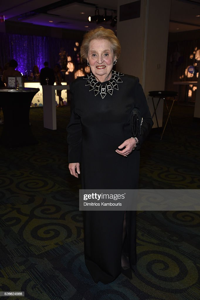 Former United States Secretary of State <a gi-track='captionPersonalityLinkClicked' href=/galleries/search?phrase=Madeleine+Albright&family=editorial&specificpeople=211429 ng-click='$event.stopPropagation()'>Madeleine Albright</a> attends the Yahoo News/ABC News White House Correspondents' Dinner Pre-Party at Washington Hilton on April 30, 2016 in Washington, DC.