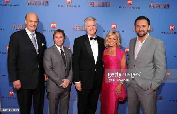Former United States Senator Fred Thompson comedian Brad Stine James R Higgins journalist Gretchen Carlson and director Daniel Lusko attend...