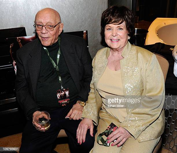Former UNLV basketball coach Jerry Tarkanian and his wife Las Vegas City Councilwoman Lois Tarkanian attend the world premiere screening of the HBO...