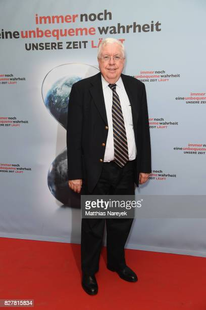 Former US Ambassador to Germany John Kornblum poses at a photo call for 'An Inconvenient Sequel Truth to Power' at Zoo Palast on August 8 2017 in...