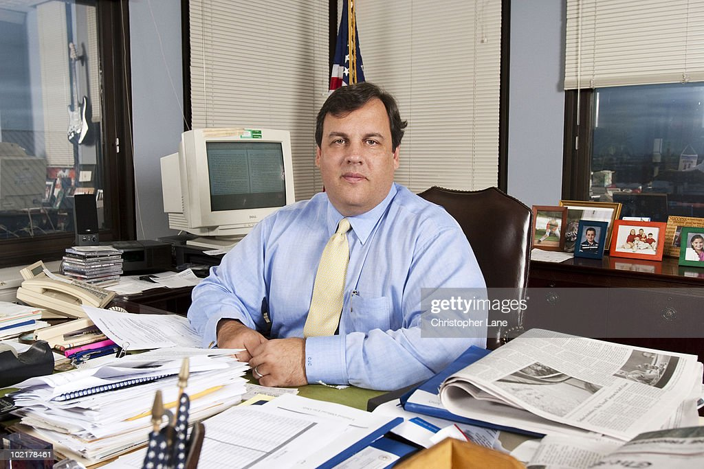 Former U.S. Attorney for the state of New Jersey, now New Jersey governor <a gi-track='captionPersonalityLinkClicked' href=/galleries/search?phrase=Chris+Christie&family=editorial&specificpeople=6480114 ng-click='$event.stopPropagation()'>Chris Christie</a> poses at a portrait session for the New Jersey Monthly in Trenton, NJ on April 17, 2007. (Photo by Christopher Lane/ Contour by Getty Images).