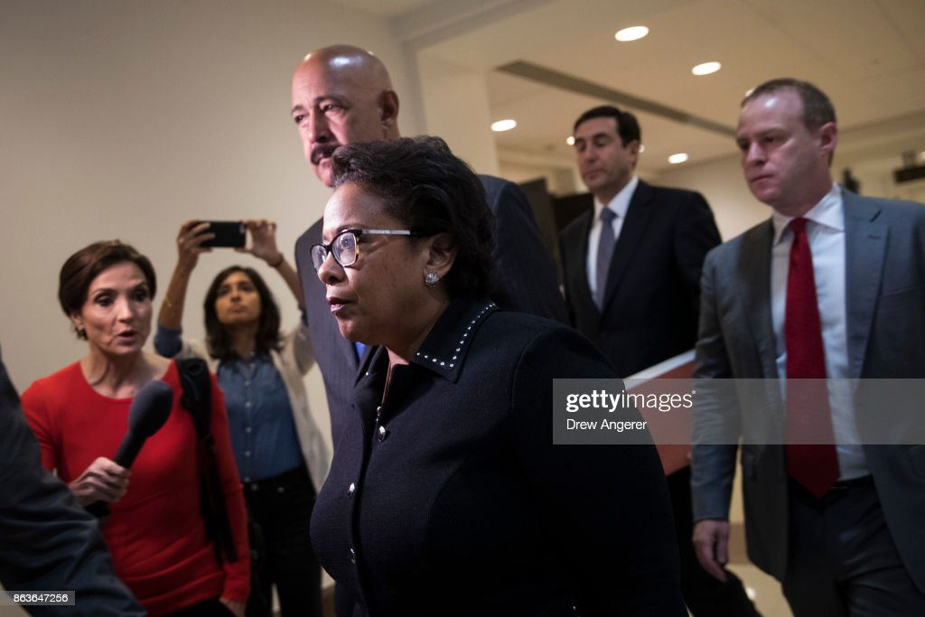 Former AG Loretta Lynch Appears Before House Intelligence Committee