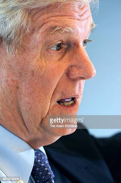 Former US Chairman of the Joint Chiefs of Staff Richard Myers speaks during the Asahi Shimbun interview on August 16 2010 in Tokyo Japan