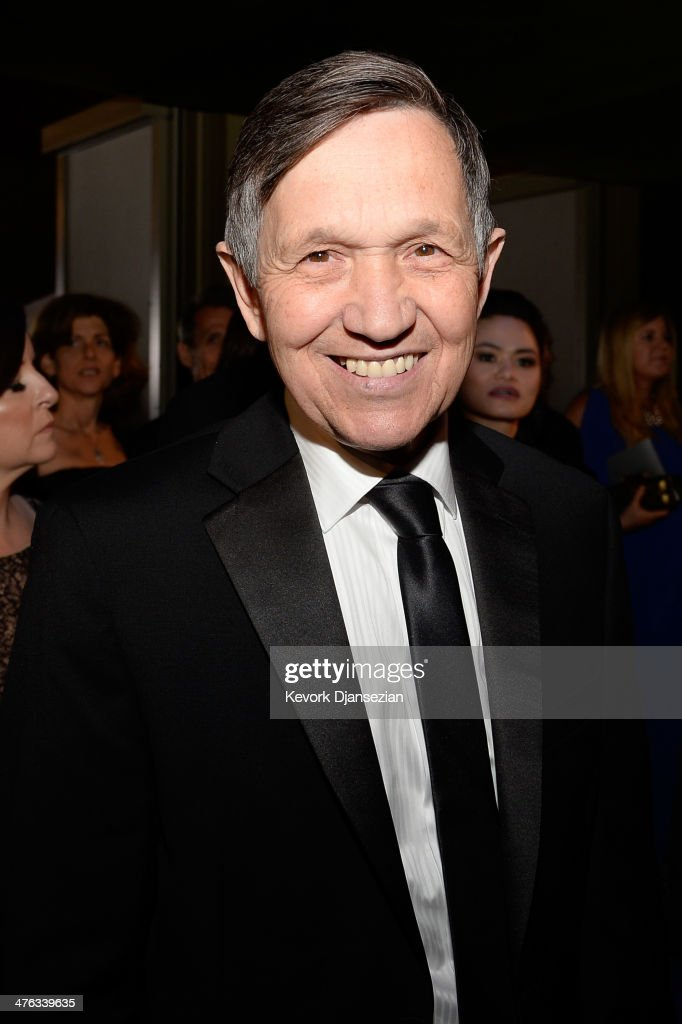 Former US Congressman Dennis Kucinich attends the Oscars Governors Ball at Hollywood Highland Center on March 2 2014 in Hollywood California