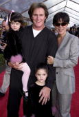 Former US gold medal decathlete Bruce Jenner his wife Kris and children Kylie and Kendall appear at the 10 December 2000 premiere of Walt Disney's...