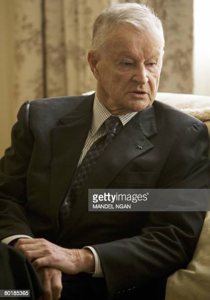Former US national security advisor Zbigniew Brzezinski waits for the arrival of Polish Prime Minister Donald Tusk for a meeting on March 10 2008 at...