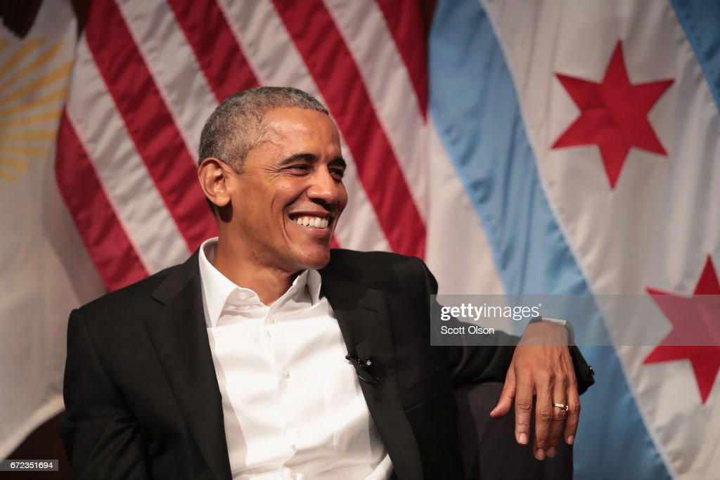 Obama Makes First Formal Appearance Since Leaving Office