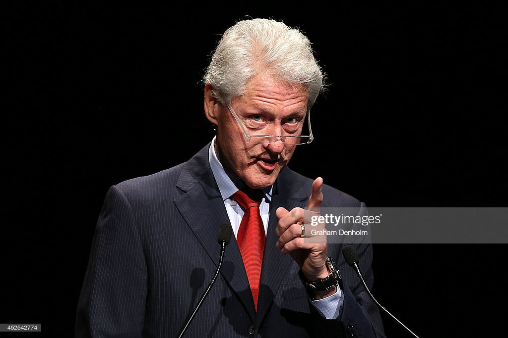 Former U.S. President Bill Clinton addresses the 20th International AIDS Conference at The Melbourne Convention and Exhibition Centre on July 23, 2014 in Melbourne, Australia. Several researchers, activists and health workers due to attend the conference were killed enroute in the Malaysian Airlines plane MH17 shot down over Eastern Ukraine.
