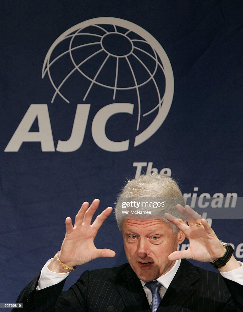 Former U.S. President Bill Clinton addresses the American Jewish Committee's annual meeting in May 6, 2005 in Washington DC. The group also presented its Light Unto the Nations Award to Clinton for his tsunami relief efforts.