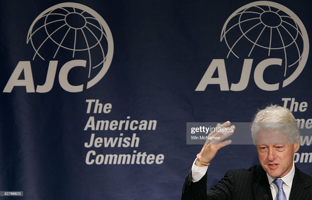 Former U.S. President Bill Clinton addresses the American Jewish Committee's annual meeting in May 6, 2005 in Washington, DC. The group also presented its Light Unto the Nations Award to Clinton for his tsunami relief efforts.
