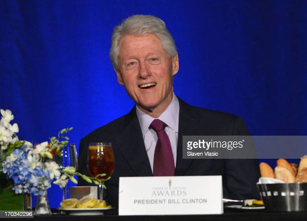 Former US President Bill Clinton attends 72nd Annual Father Of The Year Awards at Grand Hyatt New York on June 11 2013 in New York City